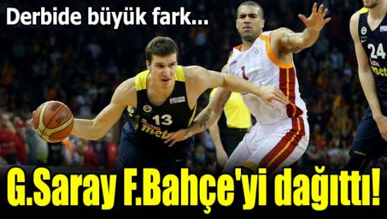 Galatasaray, Fenerbahçe'yi dağıttı!