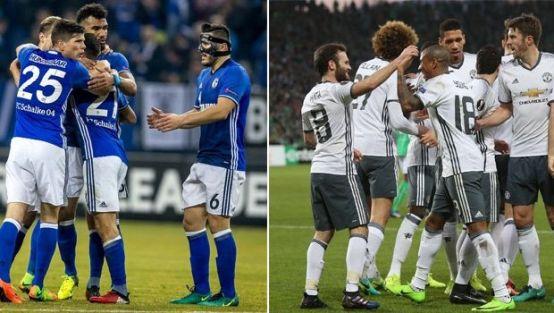 Schalke ve ManU son 16'da